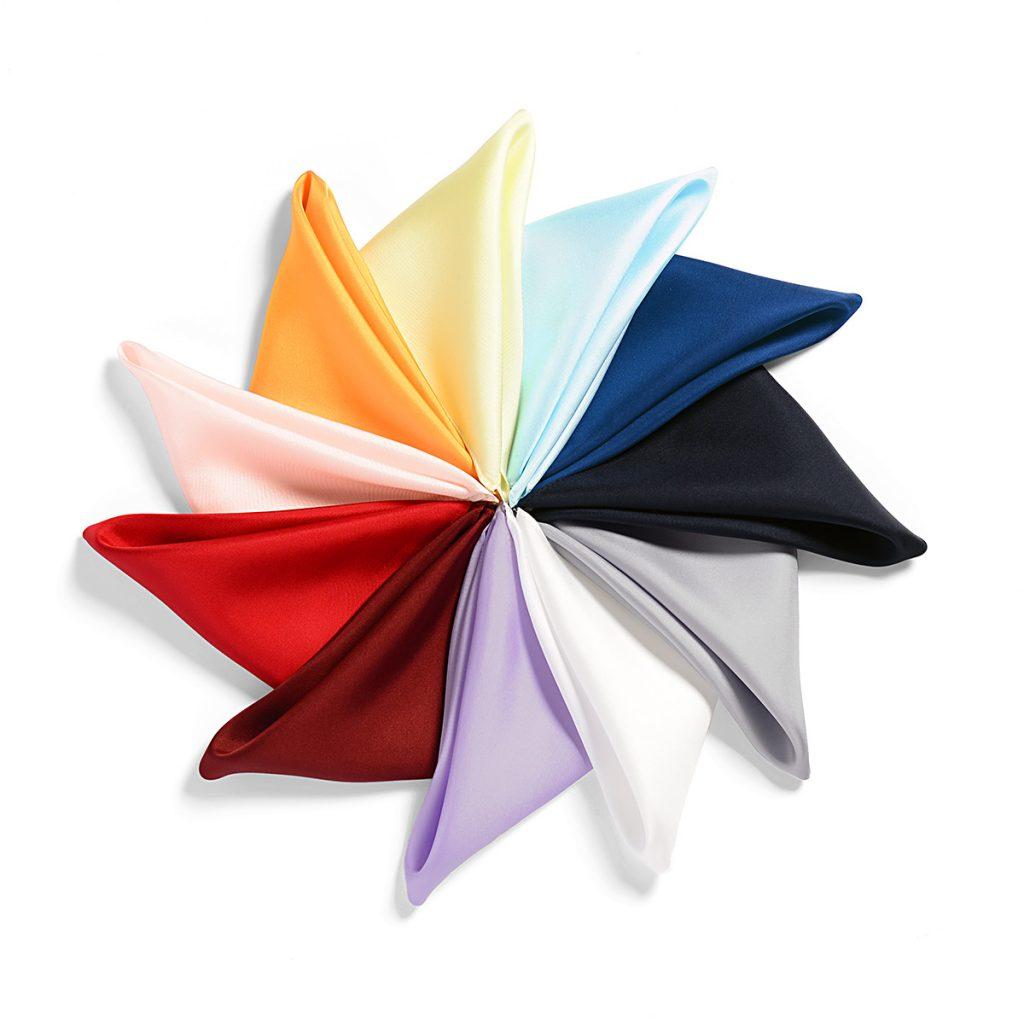 11色展開のポケットチーフ